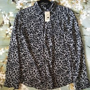 New Forever 21 Woven Long Sleeve Shirt